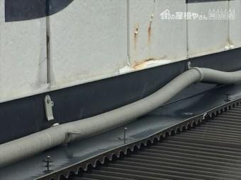 岡山市南区で板金の釘が浮いてます。