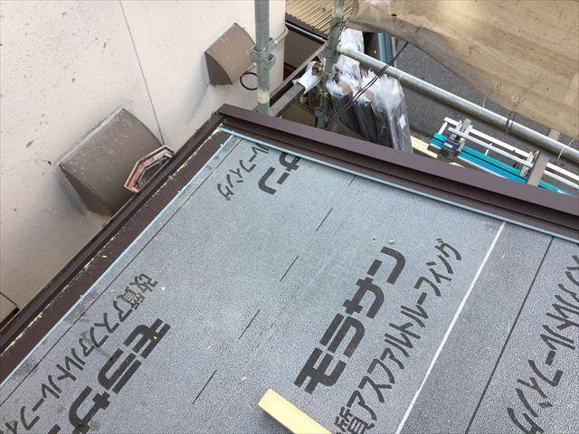 岡山市北区 アイジー工業のス-パーグルテクトのケラバ、軒先水切り取付け
