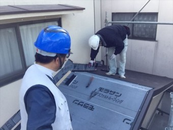 岡山市北区 スーパーガルテクトの工事確認