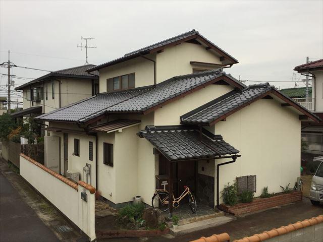 岡山市中区 瓦葺き替え