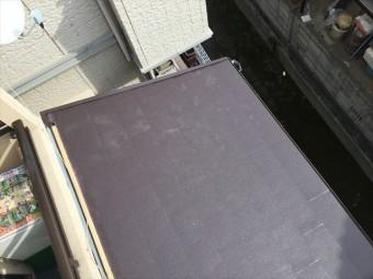 岡山市北区 軽量ガルバリウム鋼板横葺きのスーパーガルテクトの工事