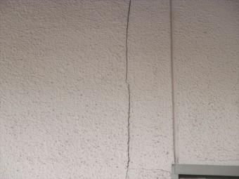 倉敷市 ウッドデッキ塗装 外壁クラック