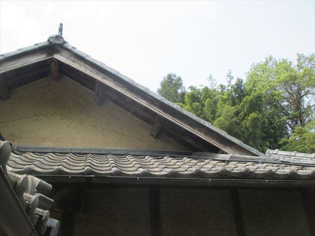 岡山県久米南町 屋根工事 セメント瓦 破風板