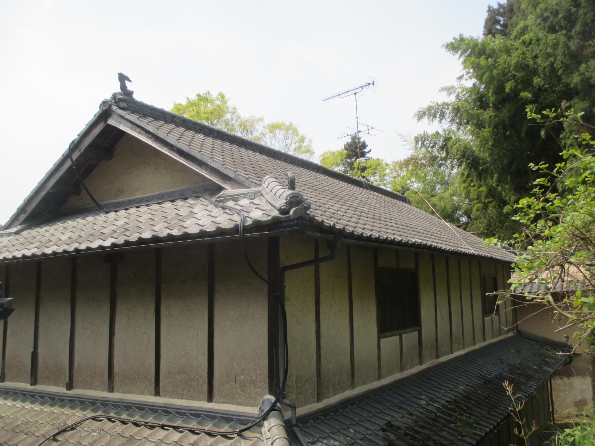 岡山県久米南町にて屋根工事 屋根瓦の点検に行ってきました。