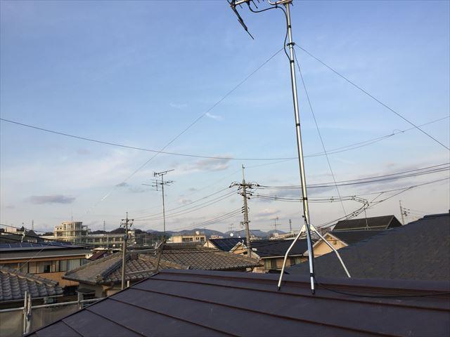 岡山市北区 アンテナ設置完了
