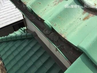 岡山市中区 雨漏り修理 樋の不具合