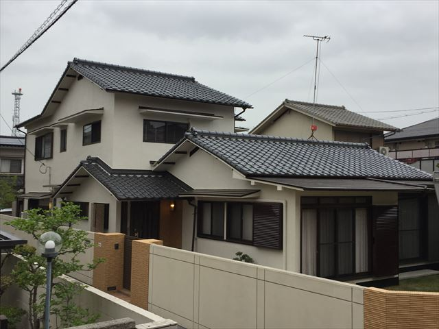 岡山市北区 外壁塗装・屋根工事の完成の写真です。