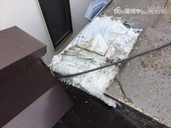 岡山市北区で雨漏り。瓦割れ
