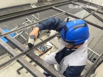 岡山市北区 カーポートの部材復旧