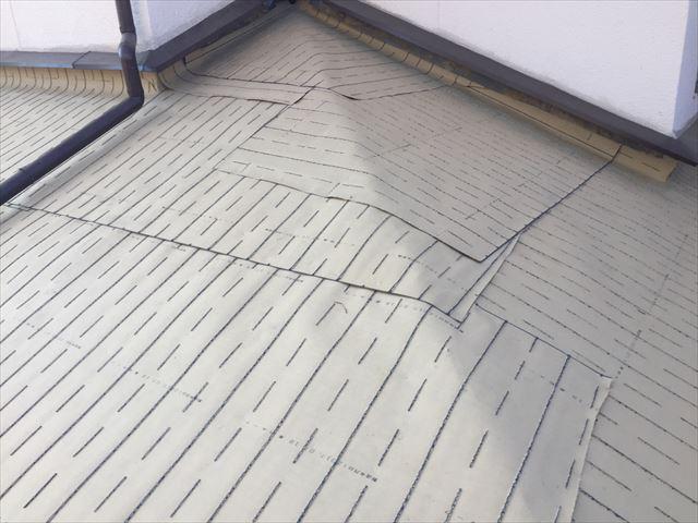 岡山市南区 下葺き材防水紙ルーフィング施工