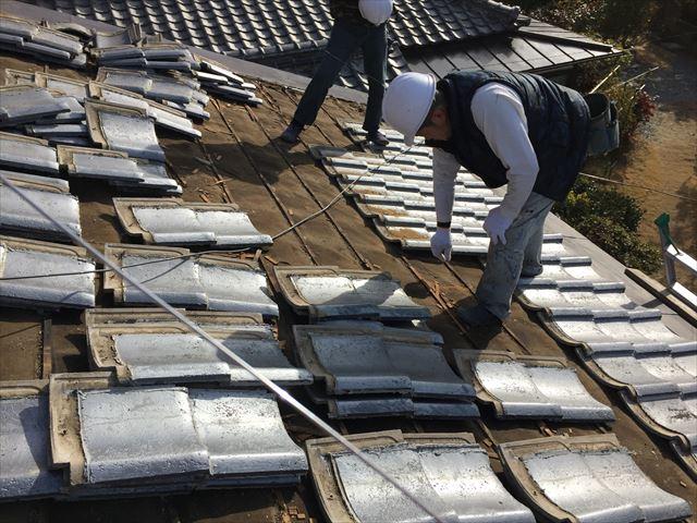 岡山市中区 瓦葺き替え工事