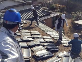 岡山市中区 瓦葺き替え工事確認