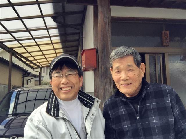 津山市 屋根修理 お客様との写真