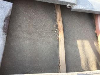 備前市 屋根点検 防水紙の劣化