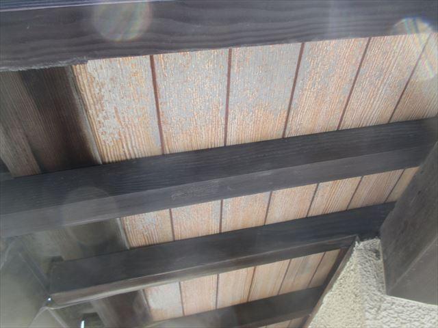 岡山市南区 屋根工事 雨漏り修理 軒天の傷み