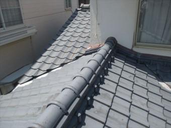 岡山市南区 屋根工事 雨漏り修理 セメント瓦の点検