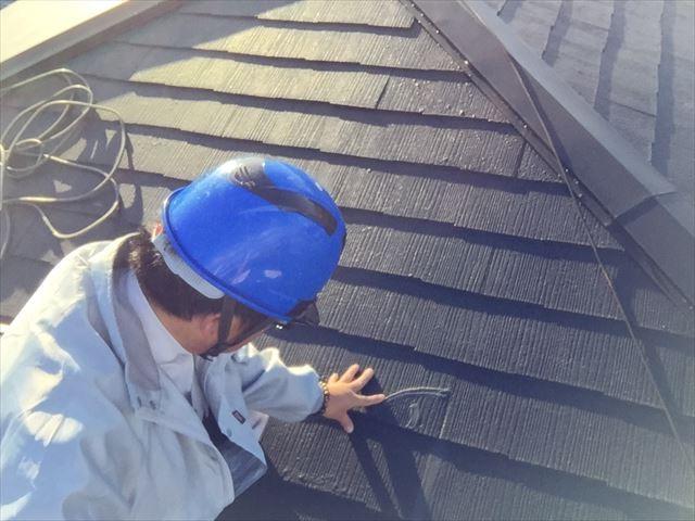 岡山市中区 屋根リフォーム工事 カバー工法 屋根点検