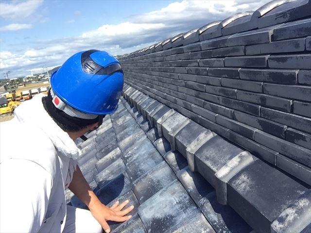 岡山市東区 屋根瓦補修工事