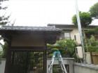岡山市中区で瓦修理 門のかどの瓦が欠落