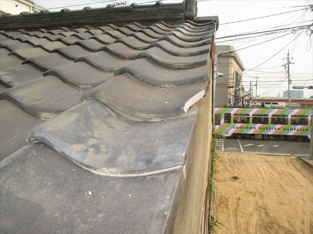 岡山市北区 屋根工事 雨漏り修理 工事前
