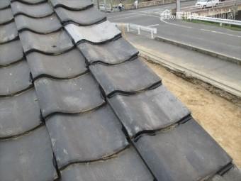 岡山市北区 屋根工事 雨漏り修理 工事中 コーキング止め