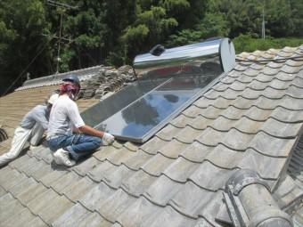 太陽熱温水器を移動