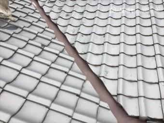 岡山市北区で雨漏り修理点検 怪しい谷板金