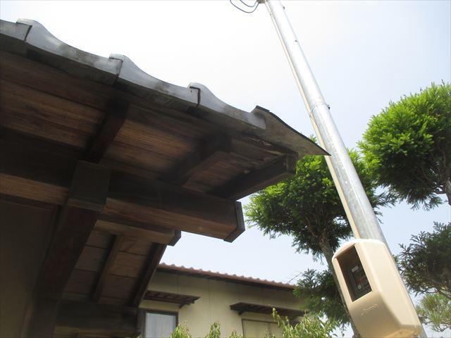 岡山市中区 屋根補修工事 瓦欠落で下地腐りかけてます