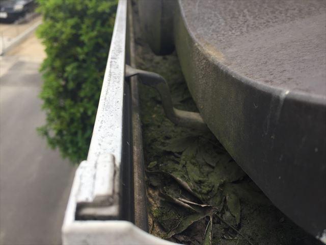 倉敷市で雨どいの点検