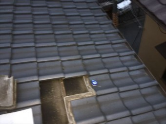 倉敷市 雨漏り点検 屋根の瓦をはぐってみました