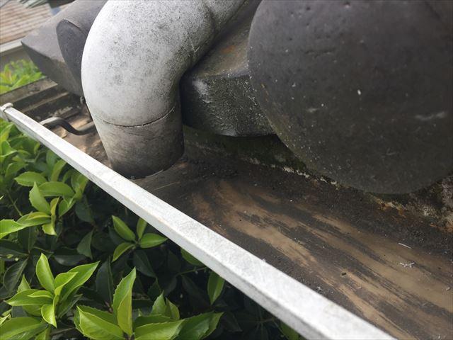 倉敷市で雨どい掃除