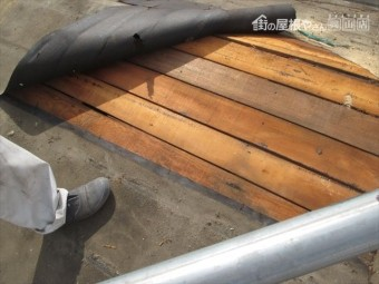 岡山市南区 屋根工事 屋根リフォーム 雨漏り修理 防水紙撤去