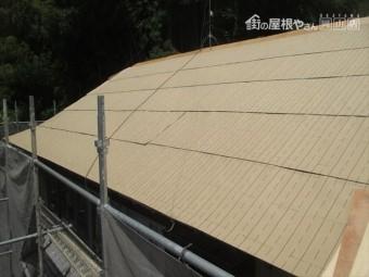 岡山県久米南町 屋根工事 雨漏り修理 防水シート張り