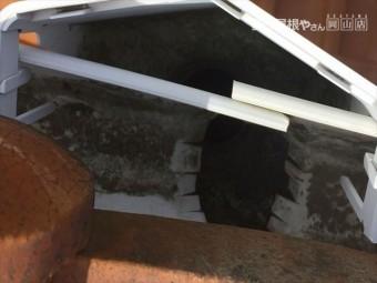 岡山市中区集水器掃除