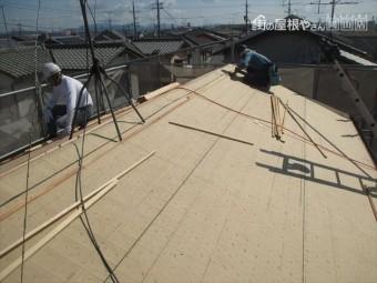岡山市南区 屋根工事 屋根リフォーム  屋根葺き替え ルーフィング張り