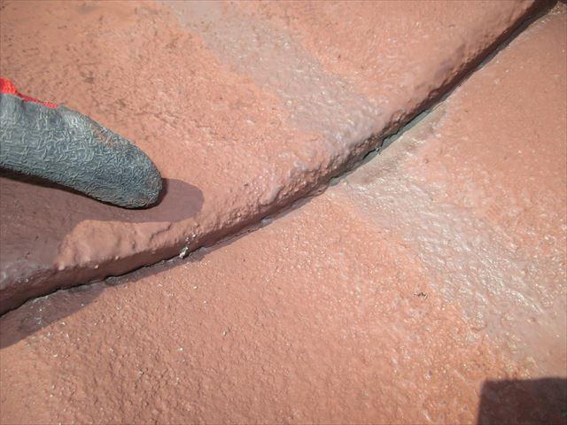 岡山市北区 雨漏り修理 塗装工事施工不良