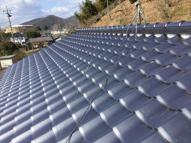 岡山市中区で屋根葺き替え工事の完成写真
