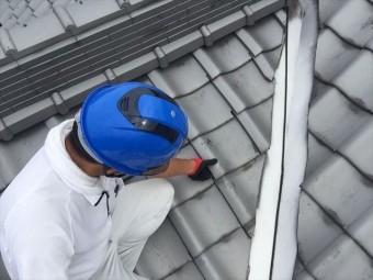 岡山県玉野市 屋根工事 雨漏り修理 瓦のズレをなおします。