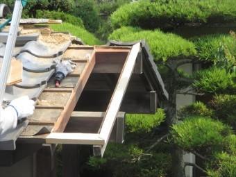 岡山市中区門の瓦補修工事