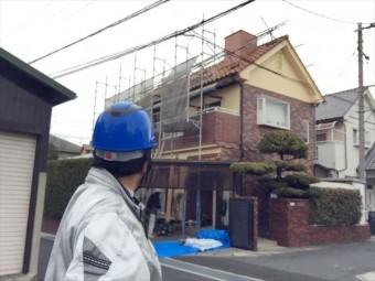 岡山市南区 屋根瓦修理 棟解体組み立て