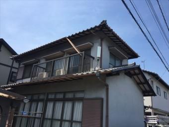 岡山市南区雨樋垂れ下がり