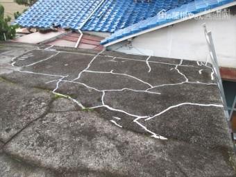 岡山市南区 陸屋根の雨漏り点検