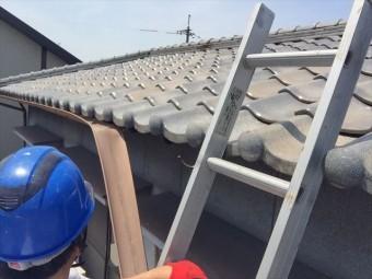 岡山市南区雨樋補修工事