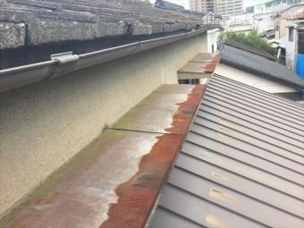 岡山市北区 屋根リフォーム セメント瓦 板金劣化