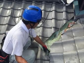 玉野市 雨漏り修理 切妻2階建て