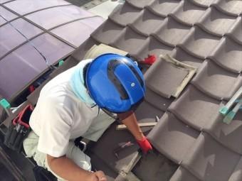 岡山市北区 瓦屋根葺き替え工事 屋根診断士の屋根点検