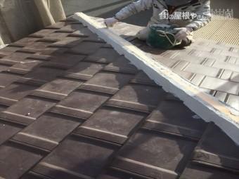 岡山市南区 強力棟南蛮漆喰シルガードを施工
