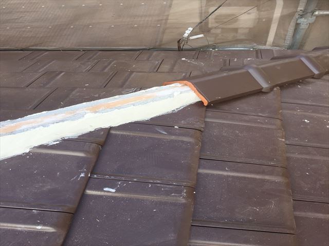 岡山市南区 強力棟南蛮漆喰シルガードを使用