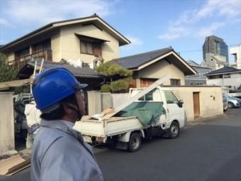岡山市北区 雨漏り修理 谷板金取り替え工事 防水紙(ルーフィング)張り工事