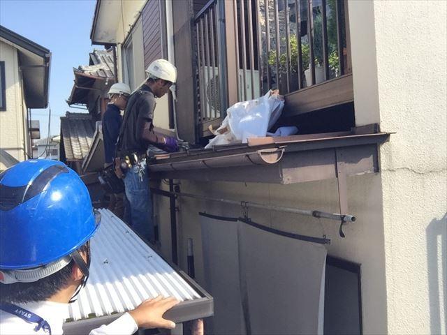 玉野市でかわらUの補修工事